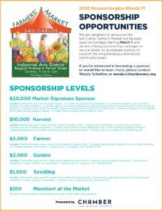 San Carlos Farmers' Market Sponsorships